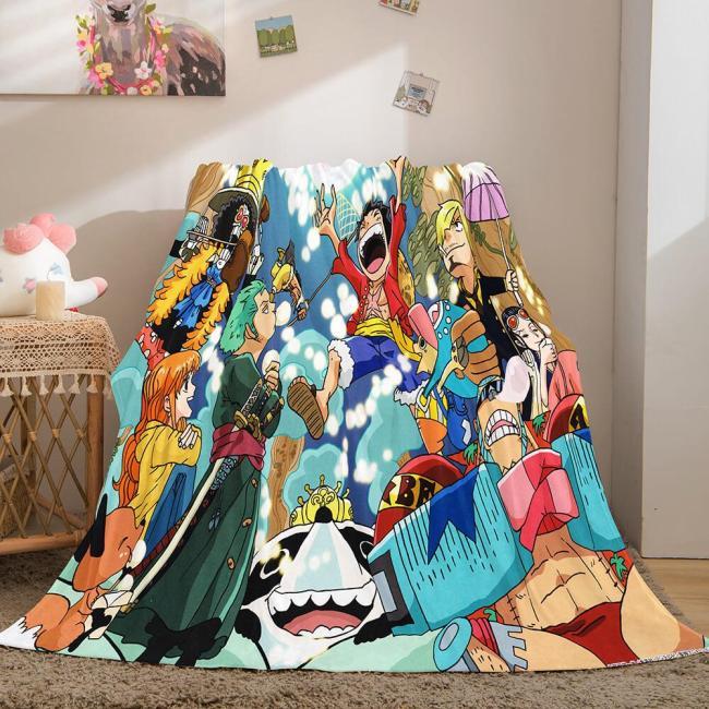Anime One Piece Cosplay Soft Flannel Fleece Throw Blanket Bedding Sets