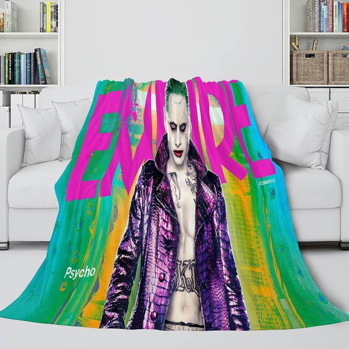 The Suicide Squad Harley Quinn Flannel Fleece Throw Cosplay Blanket