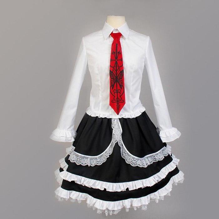 Yasuhiro Taeko Cosplay Costume Danganronpa Celestia Ludenberg Wigs Woman Lolita Uniform Skirt Halloween Party Dress