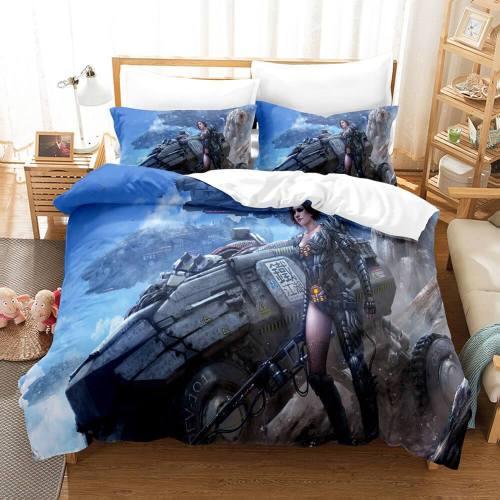 Warface War Front Cosplay 3 Piece Bedding Set Duvet Covers Sheets
