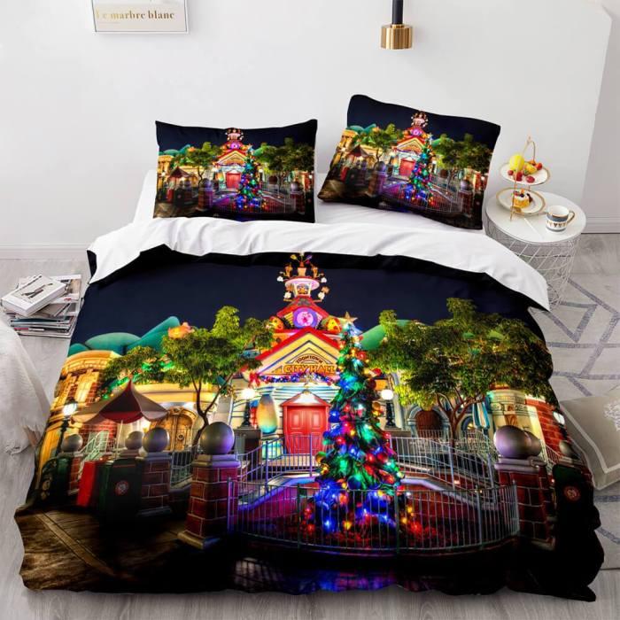 Merry Christmas Bedding Sets Soft Full Duvet Covers Comforter Bed Sheets