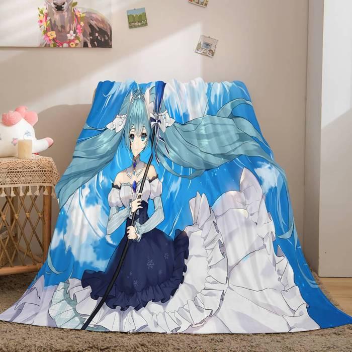 Hatsune Miku Cosplay Flannel Blanket Throw Soft Comforter Sets