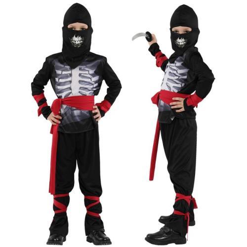 Halloween Kids Skull Ninja Costumes Party Boys Girls Warrior Stealth Children Cosplay Assassin Costume Children'S Day Gifts