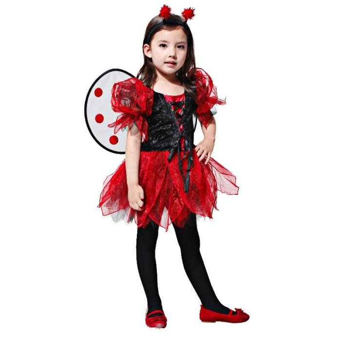 Halloween Anime Girls Children Fancy Birthday Party Costume For Kids Ninja Cosplay Carnival Super Heroes Dress Up No Weapon