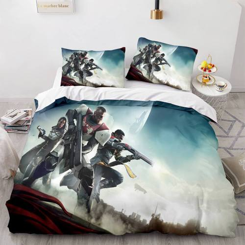 Destiny Cosplay 3 Piece Bedding Sets Comforter Duvet Covers Bed Sheets