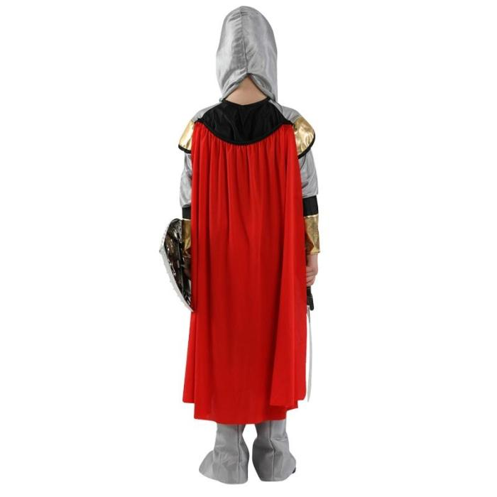 Halloween Party Kids Children Roman Warrior Soldier With Shoes Cover Cloak Belt Stage Performance Costume Boys No Weapon