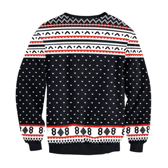 Fashion Ugly Christmas Sweater 3D Printing Christmas Elk Funny Round Neck Couple Long Sleeve Pullover