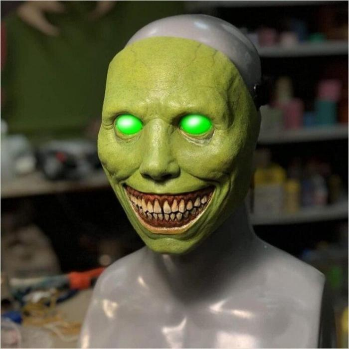 Halloween Masquerade Horror Latex Mask Cosplay Exorcist Face Dress Up Supplies Demon Mask