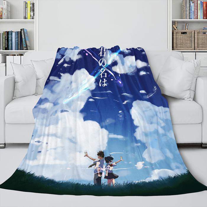 Kimi No Na Wa Cosplay Flannel Blanket Throw Comforter Bedding Sets