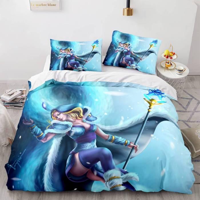 Dota Cosplay Bedding Set Quilt Duvet Covers Comforter Bed Sheets