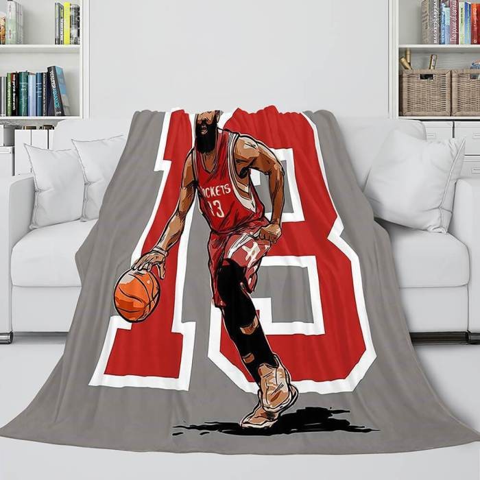 Basketball Team Flannel Fleece Throw Cosplay Blanket Halloween Comforter Set