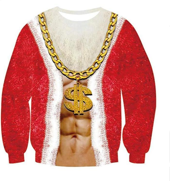 Unisex Ugly Christmas Sweater 3D Funny Design Pullover Sweaters Jumpers Tops For Xmas Men Women Party Hoodie Sweatshirt