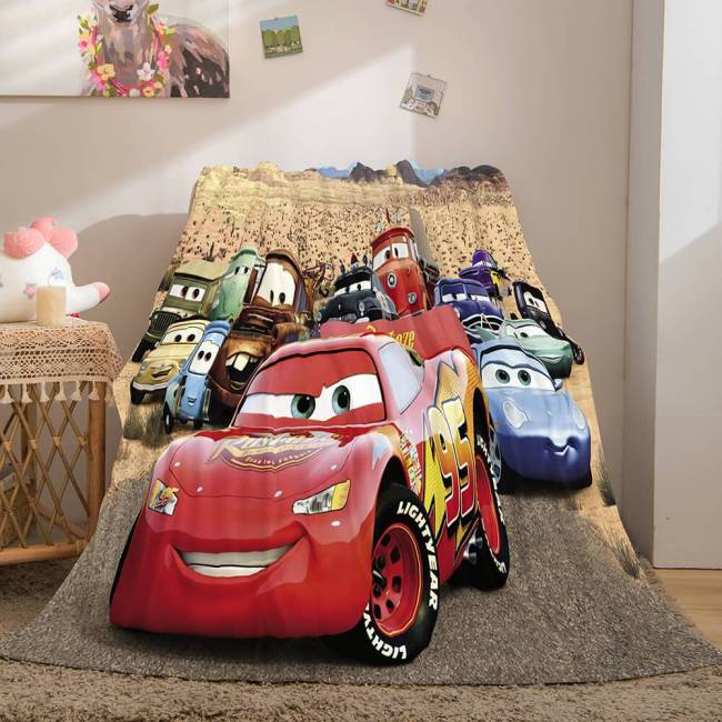 Disney Cars 2 Flannel Fleece Throw Cosplay Blanket Comforter Set
