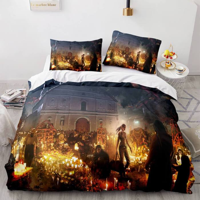 Tomb Raider 3 Piece Comforter Bedding Sets Duvet Covers Bed Sheets