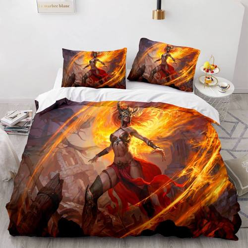 3-Piece Dragon Attack Cosplay Bedding Set Duvet Cover Sets Bed Sheets