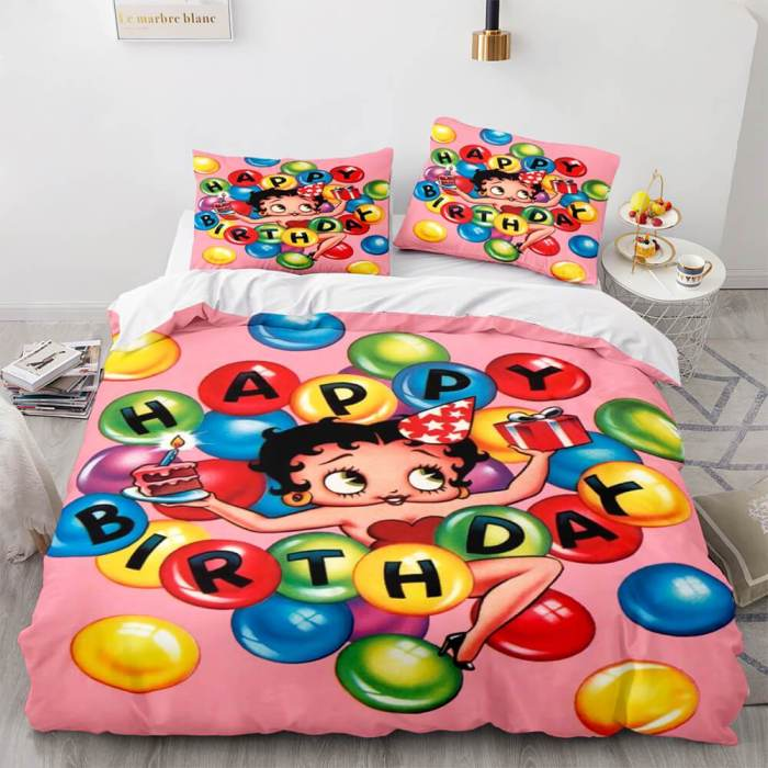 Betty Boop Cosplay Bedding Sets Duvet Covers Comforter Bed Sheets