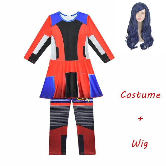 Halloween Descendants 3 Mal Costumes Child Costumes For Kids Girls Costume Hallowee Evie Cosplay Jumpsuits Girls Mermaid Tail