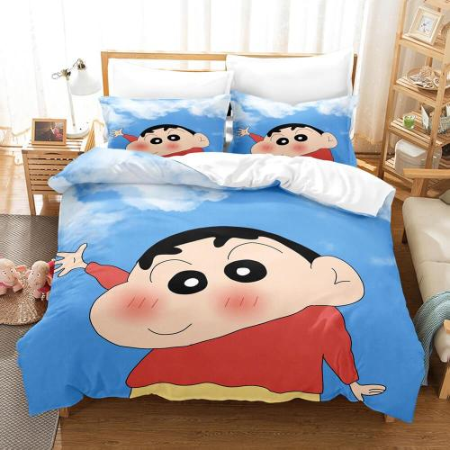 Crayon Shin-Chan Cosplay Bedding Set Duvet Cover Comforter Bed Sheets
