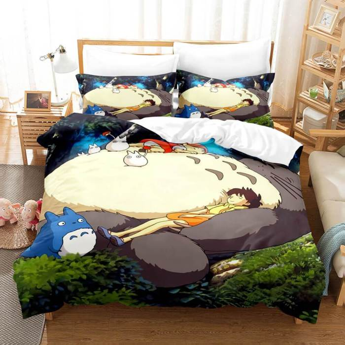 My Neighbour Totoro Cosplay Bedding Set Duvet Cover Comforter Bed Sheets