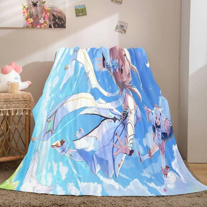 Genshin Impact Aether Lumine Flannel Caroset Throw Cosplay Blanket Comforter Set