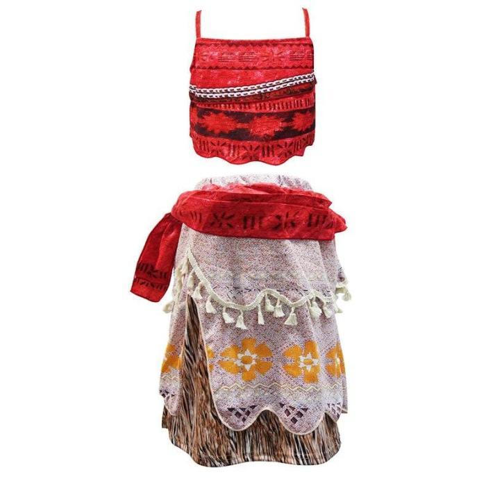 Moana Princess Costume Cosplay Costume Children Halloween Costume For Girls Party Dress