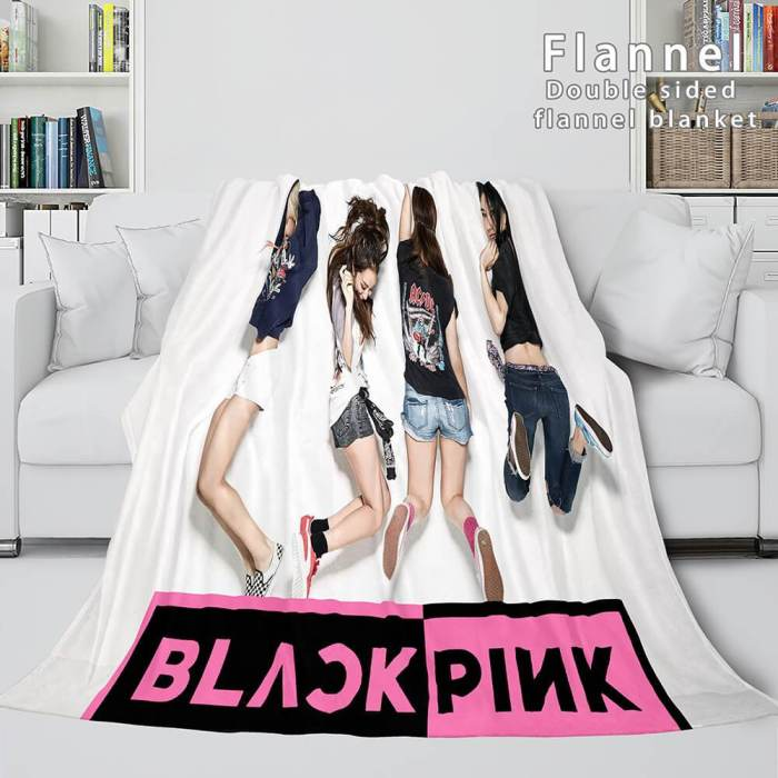 Blackpink Soft Flannel Blanket Fleece Throw Blanket Bedding Sets
