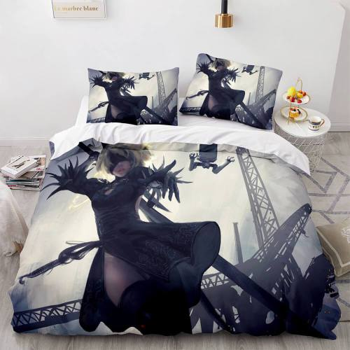 Game Ghost Knife Comforter Bedding Set 3 Piece Duvet Covers Bed Sheets