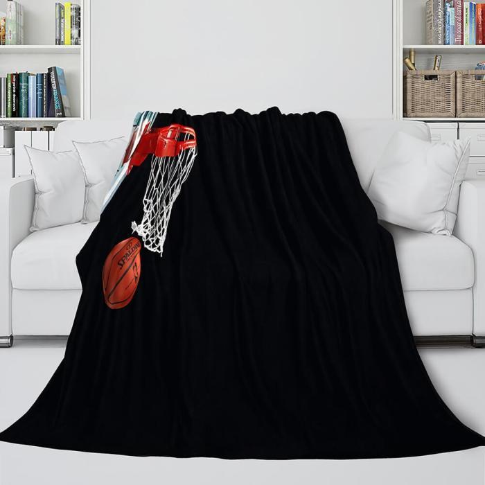Basketball Lakers Bulls Air Jordan Cosplay Flannel Blanket Comforter Set