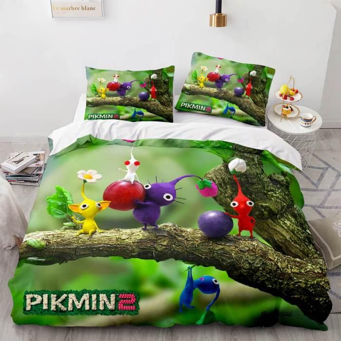 Pikmin Cosplay Comforter Bedding Set Duvet Covers Sets Bed Sheets