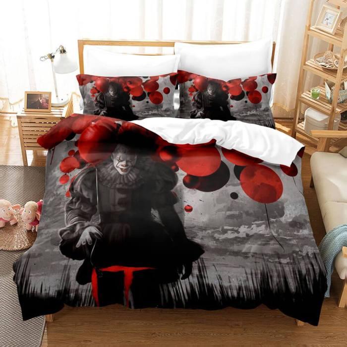 Stephen King'S It Cosplay Bedding Set Duvet Cover Comforter Bed Sheets