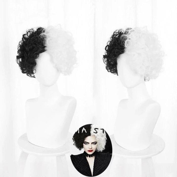 Arrival Cruella De Vil Cosplay Costume 101 Dalmatians Villain Uniform Dress Up Halloween Wig Costume For Women Xs-Xxxl