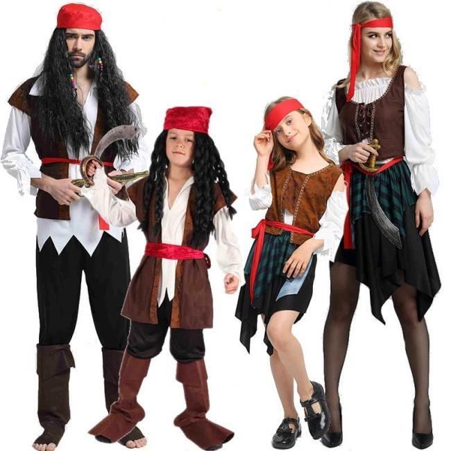 Christmas Theme Birthday Costumes Kids Boys Pirate Costume Cosplay Set For Children Halloween Christmas For Kids Children