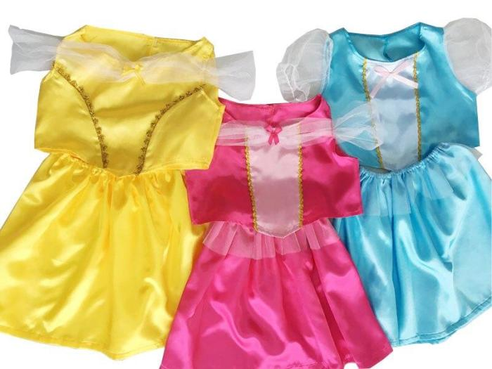 Princess Costumes Dress Up For Little Girls With Top Skirt Mask Age Of 3-8 Years