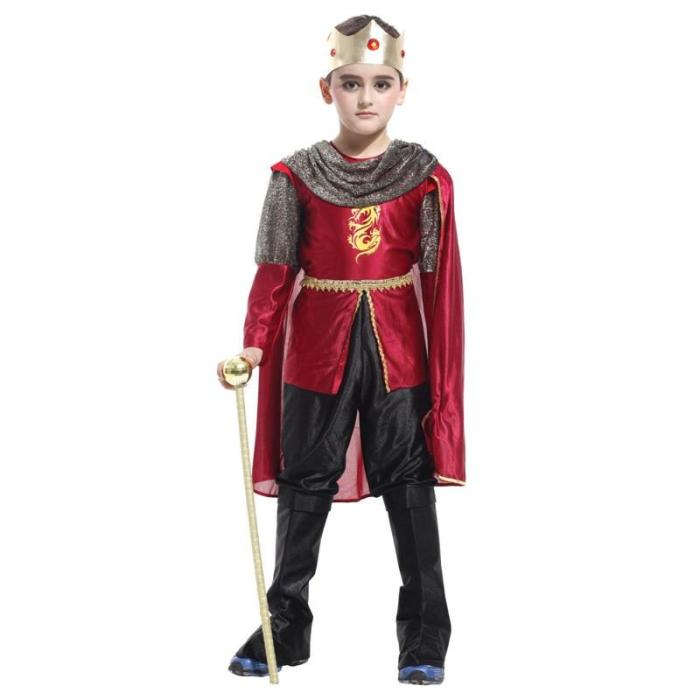 King Prince Costumes For Boys Kids Cosplay Birthday Fantasia Halloween Costume Suit Clothing