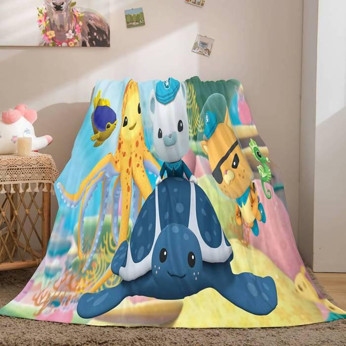 The Octonauts Flannel Caroset Throw Cosplay Blanket Comforter Set