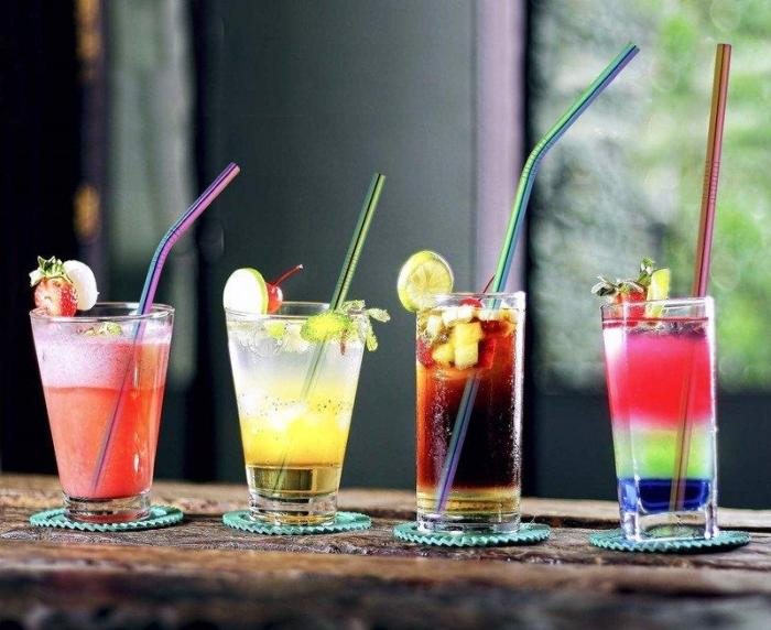 Environmental-Friendly Stainless Steel Straight/ Bent Straws