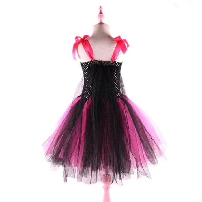 Super Cute Supergirls Hero Tutu Costume  Pink Batgirl Girls Tutu Dress Halloween For Cosplay Party Carnival Costumes Set
