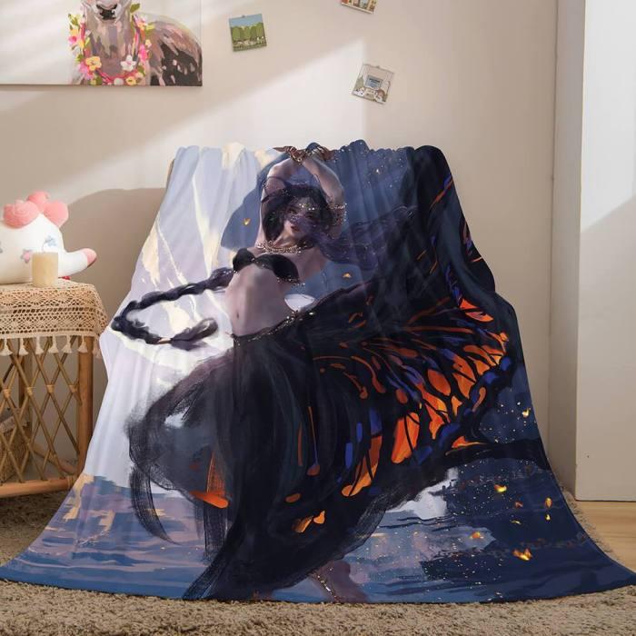 Ghost Blade Cosplay Flannel Fleece Blanket Comforter Bedding Blanket