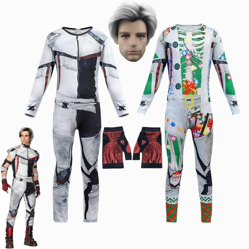 Kids Costume For Cosplay Descendants 3 Carlos Costumes Zentai Funny Christmas Costume Party Halloween 3D Boys Carnival Jumpsuits