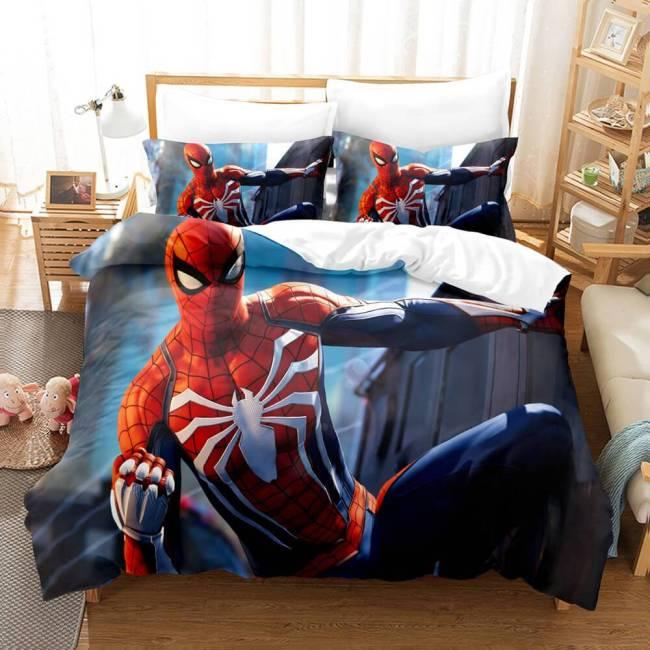 Spiderman Cosplay Full Bedding Set Duvet Cover Comforter Bed Sheets