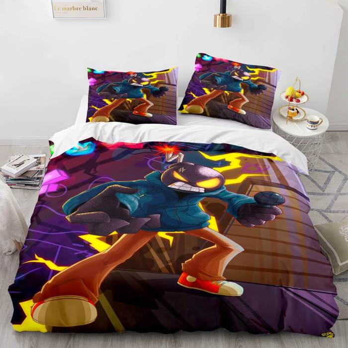 Game Fnf Whitty Bedding Sets Soft Duvet Covers Comforter Bed Sheets
