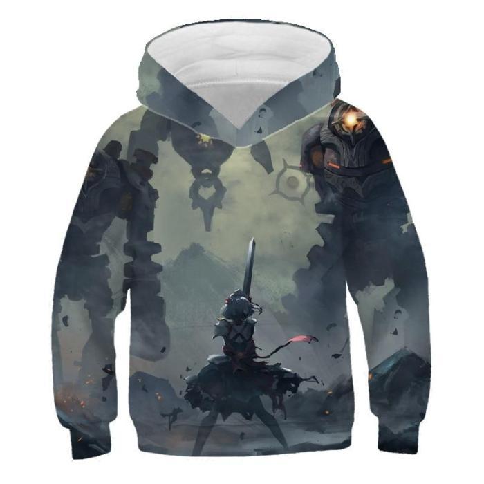Children'S Clothes Anime Cartoon 3D Print Hoodies Sweatshirts Kids Winter Spring Autumn Outwear Boys Fashion Girls Coats