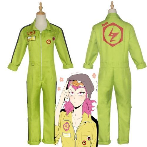 Anime  Super Danganronpa 2 Kazuichi Souda Cosplay Costume Full Set Outfit Men Women Jumpsuit Halloween Carnival Party Costume