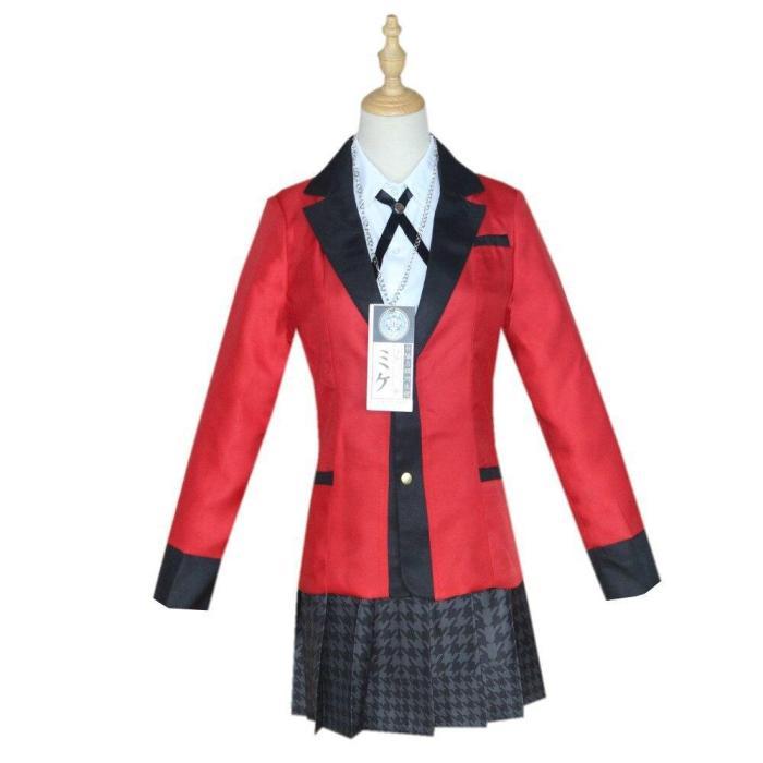 Jakcet Yomoduki Runa Cosplay Costume Kakegurui Compulsive Gambler Runa Women Orange Hooded Zip Coat