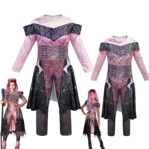 Audrey Costumes Girls Halloween Costumes For Kids Fancy Party Women Costume Queen Of Mean Descendants 3 Mal Cosplay Fantasia