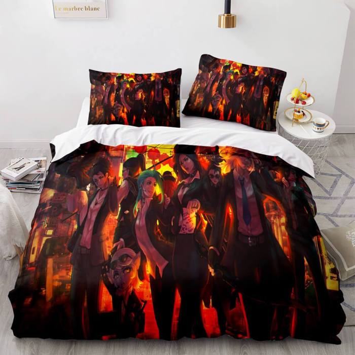 Anime Cute Girls Cosplay Comforter Bedding Sets Duvet Cover Bed Sheets