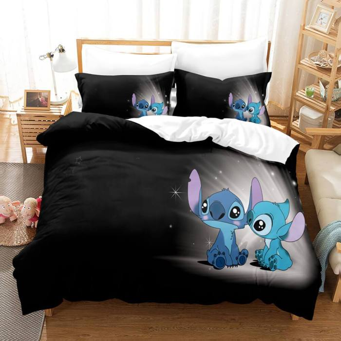 Stitch Cosplay Bedding Set Duvet Cover Comforter Bed Sheets