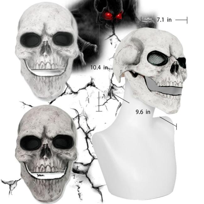Halloween Masquerade Horror Mask Cosplay Full Head Skull Mask Helmet With Movable Jaw Adult Cosplay Props