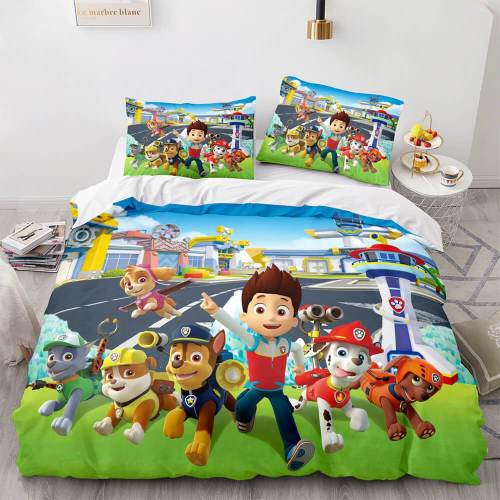 Paw Patrol Cosplay Bedding Sets Duvet Covers Comforter Bed Sheets