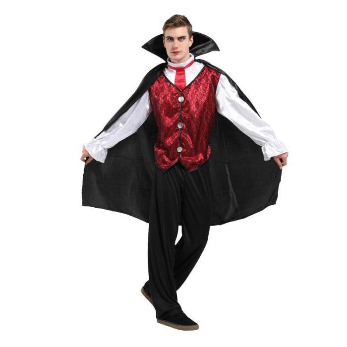 Halloween Vampire Grim Reaper Adult Men Party Cosplay Costumes Evil Devil Festival Masquerade Cape Dress Up